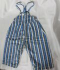 Vintage 40s 50s Overalls Bib Playsuit Cotton Rockabilly Baby Unisex Stripes NOS