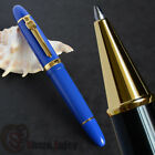 JINHAO 159 NOBLE BLUE AND GOLDEN ROLLER BALL PEN THICK 18CM DIA