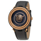 Versace V-Metal Icon Black Dial Ladies Leather Watch VQL03 0015