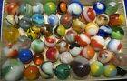 vintage marbles lot#5 akro agates ,mk. peltier!!!!, awesome!!!!!!! nm