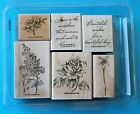 Stampin Up HEAVEN SCENT Rubber Stamp Set Flowers Sayings