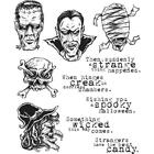 New HOLTZ Stampers Anonymous rubber stamp Cling MONSTROUS HALLOWEEN MONSTERS