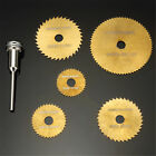 6pc HSS Circular Saw Blade Set For Metal &  Rotary Tools Gold NEW