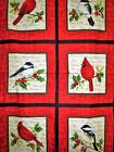 Cardinal Christmas Panel With Squares Northcott Cotton Fabric 20061 24