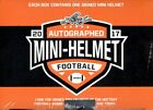 2017 LEAF AUTOGRAPH MINI HELMET FOOTBALL 8 BOX CASE