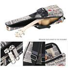 24 Ukelele Bag Case Paper Pattern Oxford Backpack Pocket 6mm Padded New S5N5