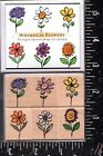 Hero Arts Wood Mounted Rubber Stamp Set Whimsical Flowers NEW