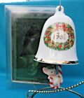 Hallmark Ornament 1981 Swingin' Bellringer 3rd in Series mouse Candy Cane