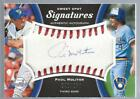 2008 Sweet Spot Signatures Red Stitch Blue Ink Autograph Paul Molitor #40 250