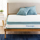 Linenspa 8 Inch Innerspring Memory Foam Hybrid Mattress Twin Full and Queen