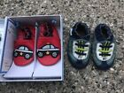 LOT NEW EUC ROBEEZ baby boy 0 6M crib shoes loafers red police car blue green