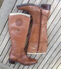 ETIENNE AIGNER Chastity British Tan Knee High Riding Boots Size 9