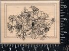 Mostly Animals Wood Mounted Rubber Stamp Flower Bouquet
