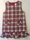 Gymboree Toddler Girls Red Plaid Christmas Holiday Jumper Dress 2T