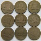 Lot of 9 Flying Eagle Cents 1857 1858 SL LL 99 Start No reserve Free Ship