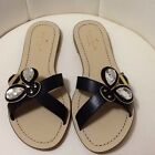 Kate Spade Colby Black Vaccetta Bumble Bee Sandal Slides Womens 65M New