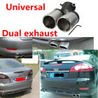 60mm Car Stainless Steel Y Pipe Bend Dual Exhaust Pipe Muffler Tips Tail Throat