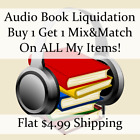 Used Audio Book Liquidation Sale ** Authors: D-D #816 ** Buy 1 Get 1 flat ship