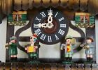 Vintage German Black Forest Cuckoo Clock Dancing Couples 4 Musicians