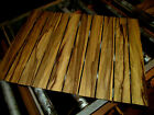 TEN 10 PIECES THIN KILN DRIED SANDED EXOTIC BLACK LIMBA 24 X 3 X 1 4 WOOD