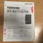 Original Toshiba Service Manual for KT Cassette Players etc ~ Select One