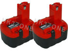 2x 14.4V 2A Battery For BOSCH 1661 1661K 2 607 335 534 2607335534 Red