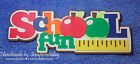 School Fun TITLE Premade Paper piecing set  by scrappintoday