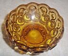 Vonrage L.E. SMITH MOON AND STARS AMBER PEDESTAL CANDY DISH - Open - 4 5/8