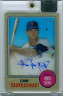 CARL YASTRZEMSKI 2017 TOPPS CLEARLY AUTHENTIC REPRINT AUTO 36 45! FREE SHIP! HOF