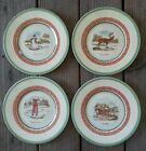 Set of 4)Villeroy & Boch FESTIVE MEMORIES WINTER SCENES SALAD OR DESSERT PLATES