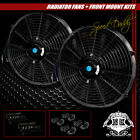 2X14 UNIVERSAL PERFORMANCE PULL PUSH ELECTRIC RADIATOR COOLING FAN+ASSEMBLY KIT