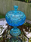 Star Glass Compote Candy Dish Vase With Lid 13