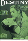 FOUR DEVILS Sheet Music Destiny Janet Gaynor FW Murnau Film