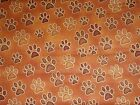 SALE RJR Wild Cats Cat Kitty Orange Brown Rust Paw Paws Fabric BTY