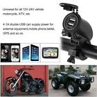 Motorcycle Dual 2 Usb Port Waterproof Power Adapter For IOS Android Phone Y1I9