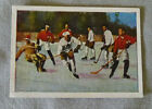 1928 Winter Olympic Team Canada in Action Hockey Card