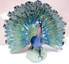 PEACOCK BIRD PHEASANT 2014 PORCELAIN FIGURINE BY LLADRO 8777