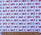 SNUGGLE FLANNEL  LOVE U WORDS  HEARTS on WHITE 100 Cotton Fabric NEW BTY