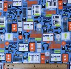 SNUGGLE FLANNEL  ELECTRONICS GAMES PHONES COMPUTER 100 Cotton Fabric BTY