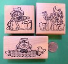 Kountry Scarecrows of Korn Kounty Autumn Selection of wood mtd rubber stamps