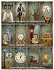 SET OF 12 VINTAGE STEAMPUNK SCRAPBOOK CARD CRAFT EMBELLISHMENTS HANG GIFT TAGS