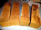 FOUR 4 BEAUTIFUL BEECH TURNING BLANKS LUMBER WOOD LATHE CARVE 3 X 3 X 12