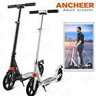 ANCHEER 2 Wheels Folding Portable Adult Scooter Adjustable Suspension Push Kick