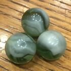 VITRO ? - LOT of 3 - GREEN / WHITE / CLEAR   5/8 INCH