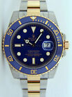 NEVER WORN Rolex Submariner Gold & Steel Blue Dial Ceramic 116613LB WATCH CHEST