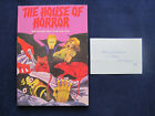 THE HOUSE OF HORROR SIGNED  INSCRIBED by PETER CUSHING Hammer Films Story