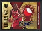 2010-11 Panini Gold Standard Golden Age Dikembe Mutombo 3-Color Patch AUTO 25