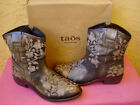 TAOS Pewter Privilege Ankle Boot Western EMBROIDERY Cowgirl Womens 9 95 NIB