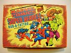 1980 MARVEL COMICS SUPER HEROES TATTOO BOX (36 PACKS) HULK - SPIDERMAN - THOR +