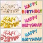 16 Foil Happy Birthday Balloon 13 Letters Shape Banner Bunting Party Decoration